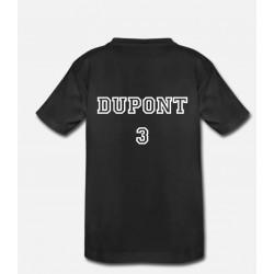 T-shirt BIO numéro - enfant